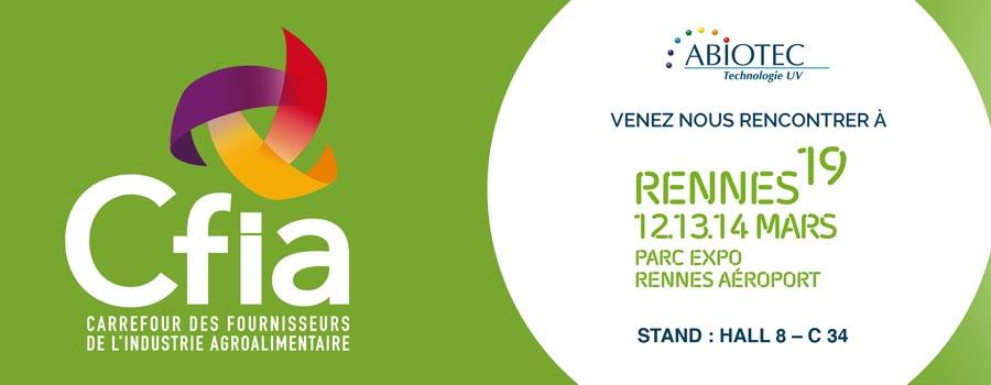 Abiotec participera au CFIA 2019